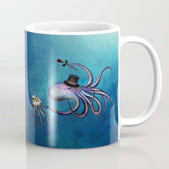 Underwater Love // octopus jellyfish Mug