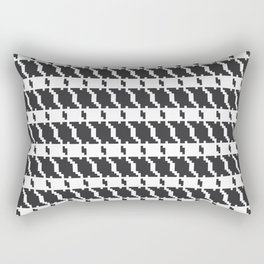Black and white geometric abstract background, cloth pattern, goose foot. Pied de poule. Ve Rectangular Pillow