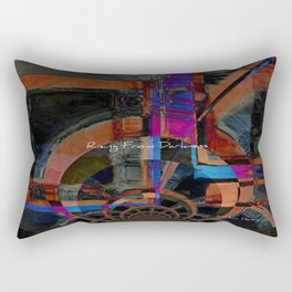 Rising From Darkness Abstract - Happiness - Inspiration Rectangular Pillow