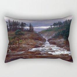 Johan Christian Dahl The Lower Falls of Labrofoss Rectangular Pillow