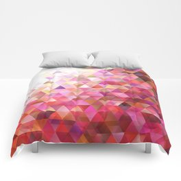 Geometric Abstract Gradient Triangle Pattern Background Comforters