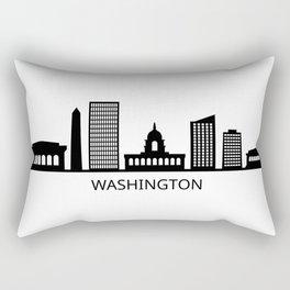 skyline washington Rectangular Pillow