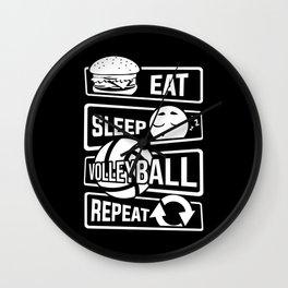 Eat Sleep Volleyball Repeat - Ball Sports Team Wall Clock