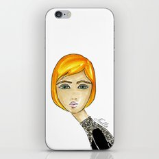 Green-Eyed Girl iPhone & iPod Skin