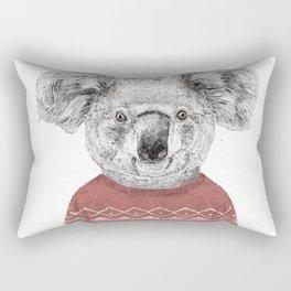 Winter koala (red) Rectangular Pillow