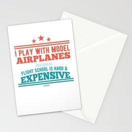 Flight school kit model airplane Stationery Cards