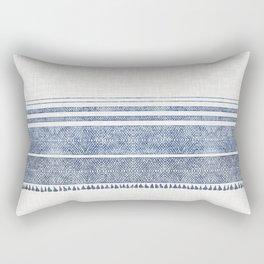 FRENCH LINEN CHAMBRAY TASSEL Rectangular Pillow