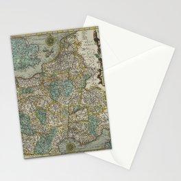 Vintage Map - Ortelius: Theatrum Orbis Terrarum (1606) - France Stationery Cards