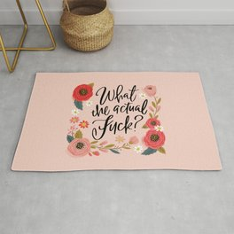 Pretty Sweary: What the Actual Fuck? Rug