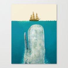 The Whale - colour option Canvas Print