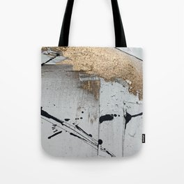 Still: an abstract mixed media piece in black, white, and gold by Alyssa Hamilton Art Tote Bag