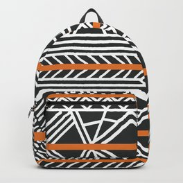 Tribal ethnic geometric pattern 022 Backpack