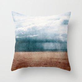 Rain Storm On Algarve Beach Throw Pillow