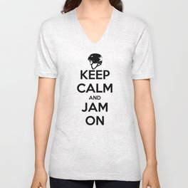 Keep Calm and Jam On Unisex V-Neck