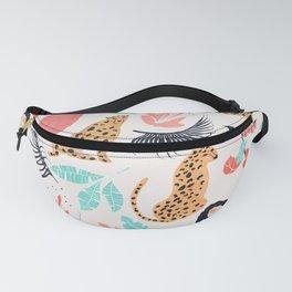 Summer Girls & Cheetah Pattern Fanny Pack
