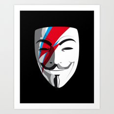 Who wants to be Anonymous? Let's be Fabulous! Viggy Starfawkes. Art Print