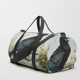 Breakfast With the Raven Duffle Bag