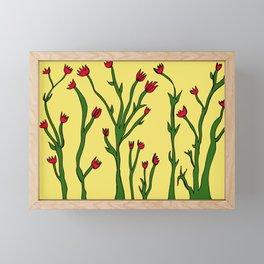 Long flowers Framed Mini Art Print