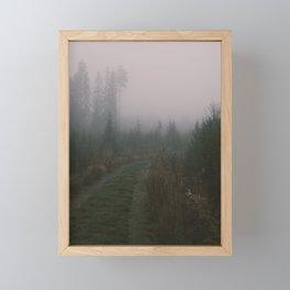 Foggy path Framed Mini Art Print