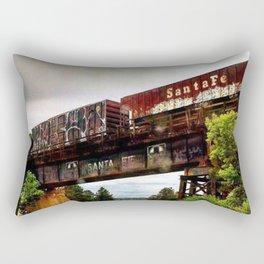 Graffiti Train Rectangular Pillow