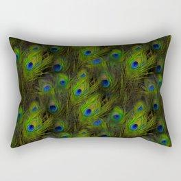 Peacock Feather Plummage Rectangular Pillow