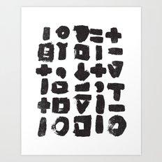 BLACK LINES Art Print
