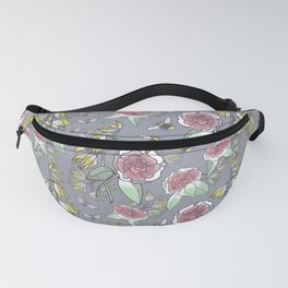 Spring Camellias and Yuccas Fanny Pack