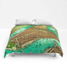 Retro New York Print Comforters