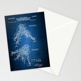 Lunar Module Blueprint, Patent Art, Moon Walk, Moon Landing, NASA Stationery Cards