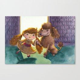 """""""Proper Poodle Playmates"""" Canvas Print"""