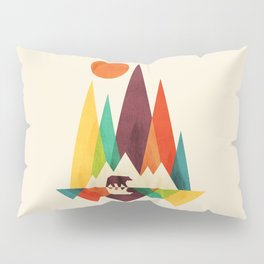 Bear In Whimsical Wild Pillow Sham