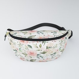 Sunny Floral Pastel Pink Watercolor Flower Pattern Fanny Pack