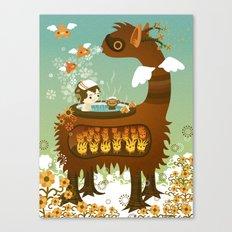 Llama Bath Canvas Print
