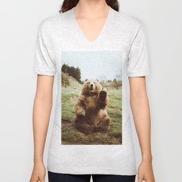 Hi Bear Unisex V-Neck