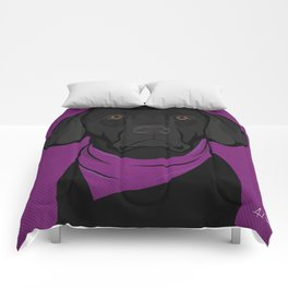 Icons of the Dog Park: Black Labrador Design in Bold Colors for Pet Lovers Comforters