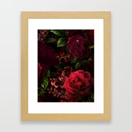 Mystical Night Roses Framed Art Print