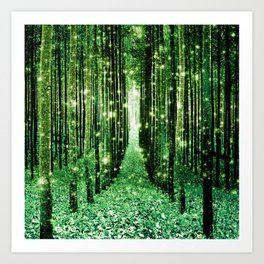 Magical Forest Green Elegance Art Print