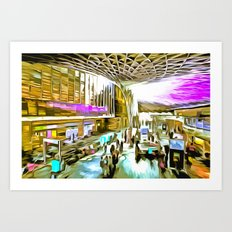 Kings Cross Station London Pop Art Art Print