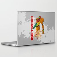 castlevania Laptop & iPad Skins featuring Turning to Zero by Greytel