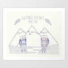 distance cat Art Print