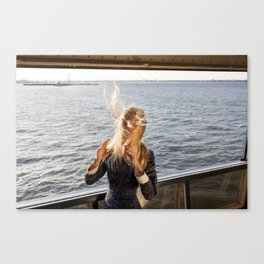 The Ferry, Windy Canvas Print