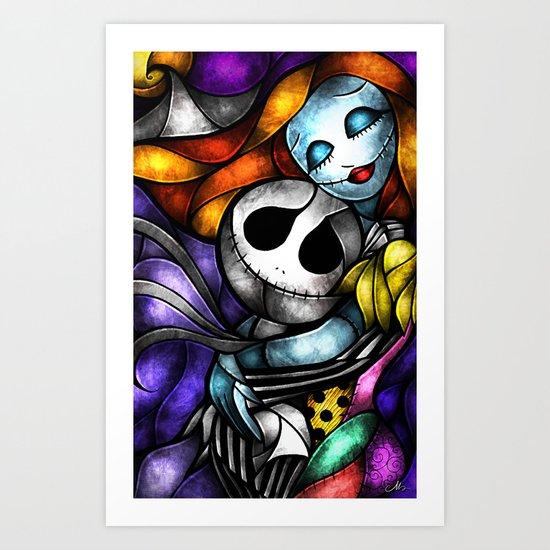 Love at its darkest Art Print