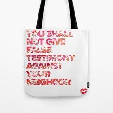 The Ninth Commandment Tote Bag