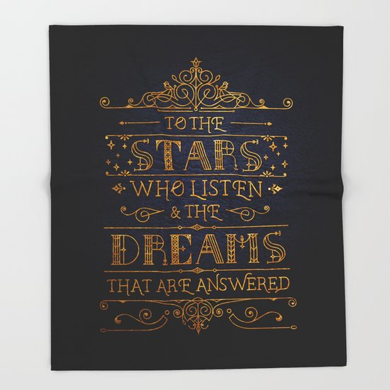 To the stars who listen Throw Blanket