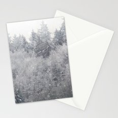 Snowing Trees Stationery Cards