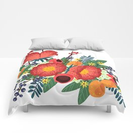 Oranges and Blueberries Comforters