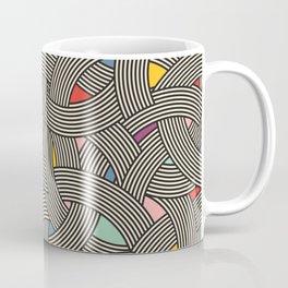 Modern Scandinavian Multi Colour Color Curve Graphic Coffee Mug