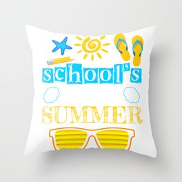 Schools Out For Summer Throw Pillow