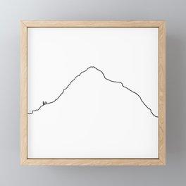 K2 Art Print / White Background Black Line Minimalist Mountain Sketch Framed Mini Art Print