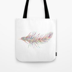 Rainbow Feather  Tote Bag